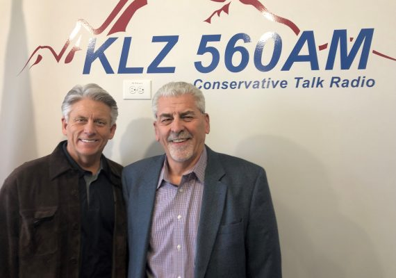 Scott Whatley & Kurt Rogers, Owner of Affordable Interest Mortgage after broadcasting a segment about Reverse Mortgages for Referrals For Seniors, powered by Haystack Help Radio on 560AM KLZ.